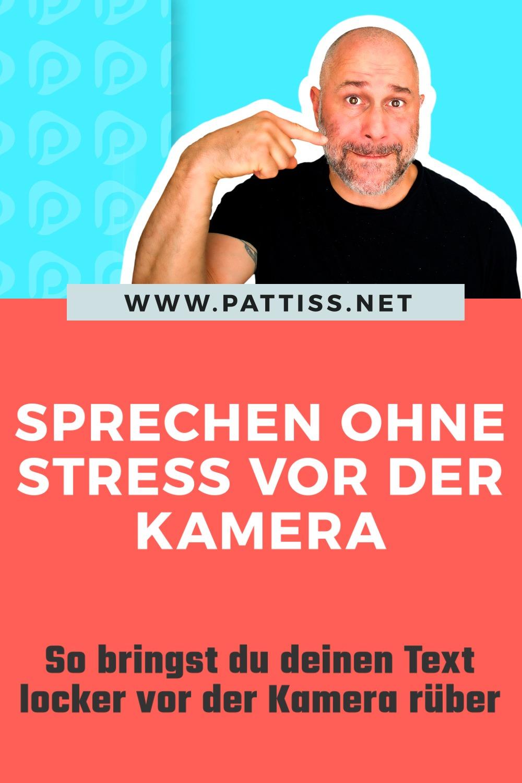 Sprechen ohne Stress vor der Kamera